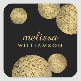 Black and Gold Glamour and Beauty II Stickers