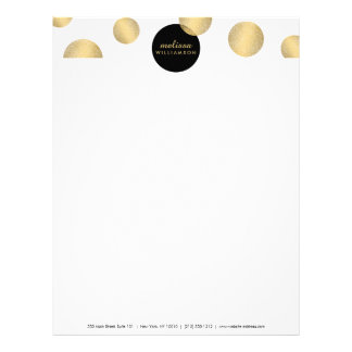 Black and Gold Glamour and Beauty Letterhead