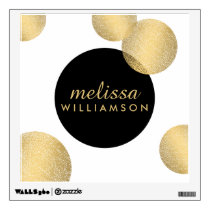 Black and Gold Glamour and Beauty Wall Decal