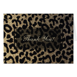 Black and Gold Glitter Card