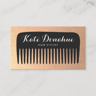 Comb business cards templates zazzle black and gold glitter hair stylist comb business card colourmoves