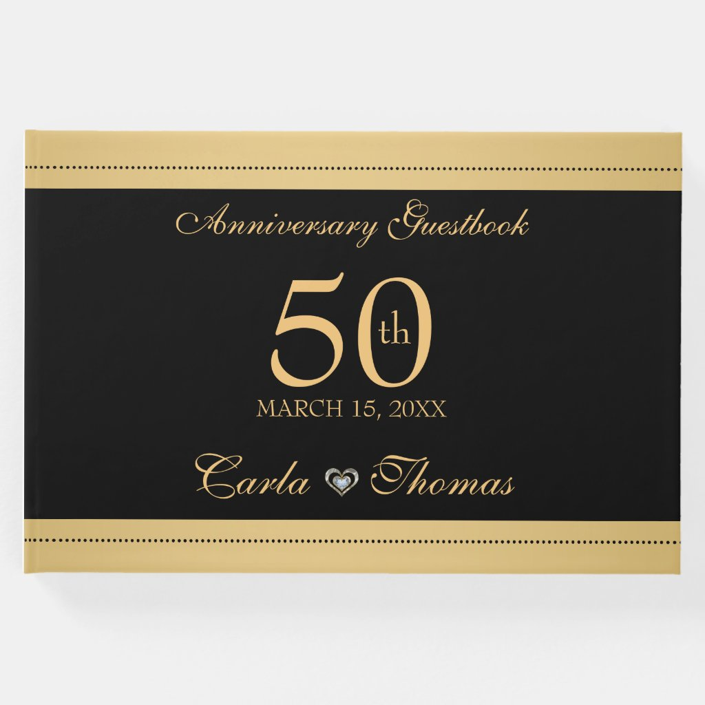 Black And Gold- Gold Wedding Anniversary