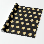 Black And Gold Golden Elegant Modern Template Wrapping Paper