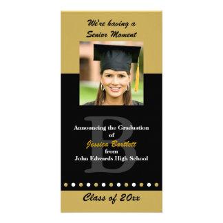 Black and Gold Graduation Announcement