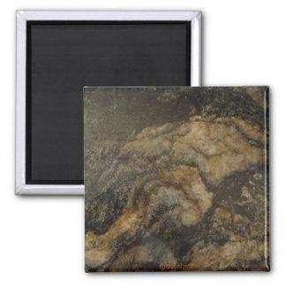Black and Gold Granite Magnet