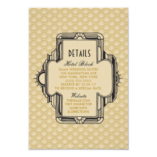 Black and Gold Great Gatsby Details Cards