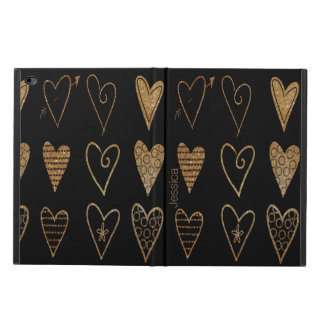 Black and Gold Hearts Custom iPad Air 2 Case Powis iPad Air 2 Case