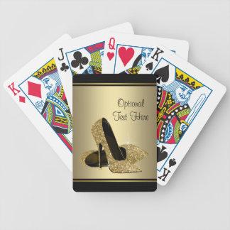 Black and Gold High Heels Card Decks
