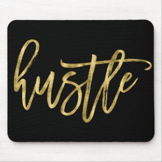 Black And Gold Hustle Mouse Pads