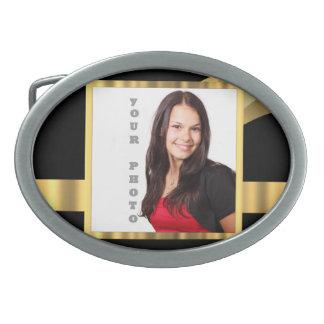 Black and gold instagram template belt buckle