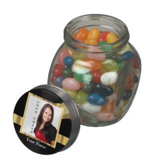Black and gold instagram template glass candy jar