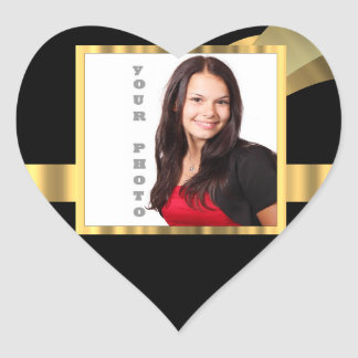 Black and gold instagram template heart sticker