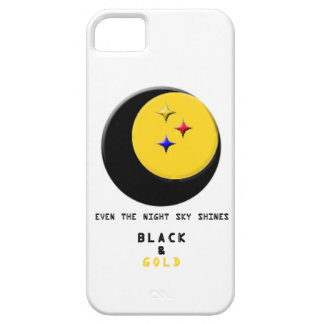 Black and Gold is even in the Night Sky Case iPhone 5 Cover