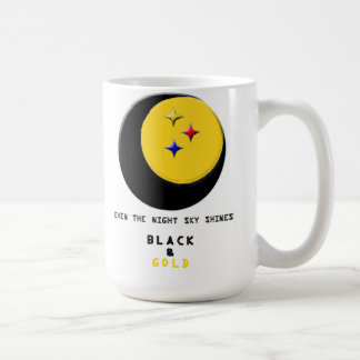 Black and Gold is even in the Night Sky Mug