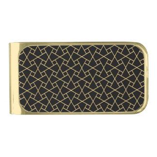 Black and Gold Islamic Mosaic Pattern Money Clip