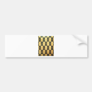 Black and Gold Japanese Checkered Pattern Bumper Sticker