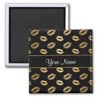 Black and Gold Kisses Magnet