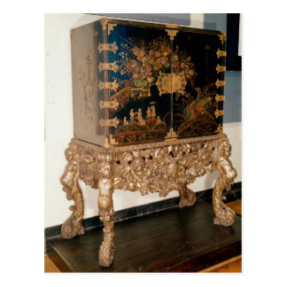 Black and gold lacquer cabinet postcard