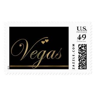 Black and Gold Las Vegas Postage