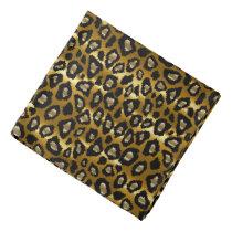Black and Gold Leopard Animal Pattern Bandana
