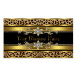 Black and Gold Leopard Double-Sided Standard Business Cards (Pack Of 100)