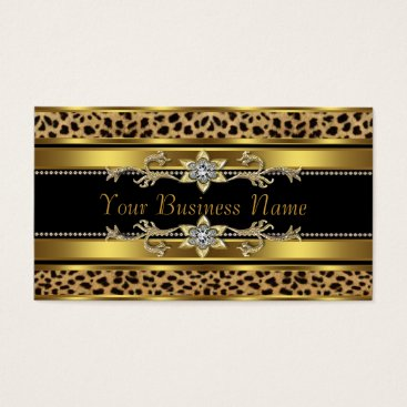 Professional Business Black and Gold Leopard Business Card