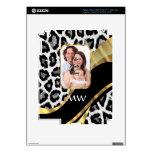 Black and gold leopard print iPad 3 skin
