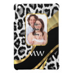 Black and gold leopard print case for the iPad mini