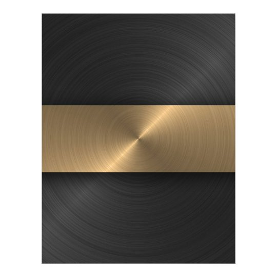 Black And Gold Letterhead