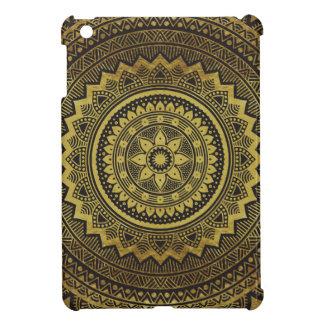Black and gold mandala iPad mini cases