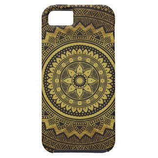 Black and gold mandala iPhone SE/5/5s case