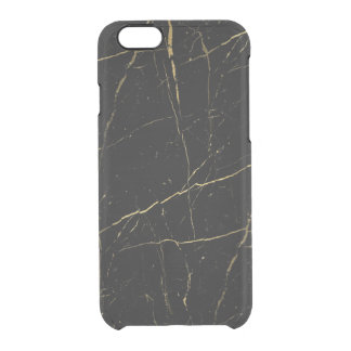 Black and Gold Marble Clear iPhone 6/6S Case