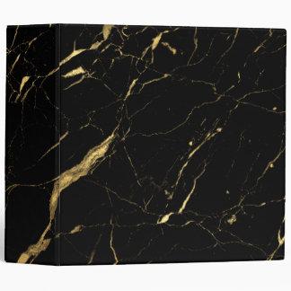 Black and Gold Marble Designer 3 Ring Binder