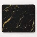 "Black and Gold Marble Designer Mouse Pad<br><div class=""desc"">An organic marble pattern in faux gold and black provides a luxurious aesthetic to this stylish mouse pad. Art and design &#169; 1201AM Design Studio 