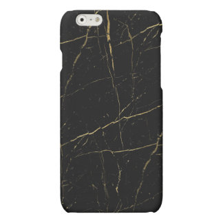 Black and Gold Marble Matte iPhone 6 Case
