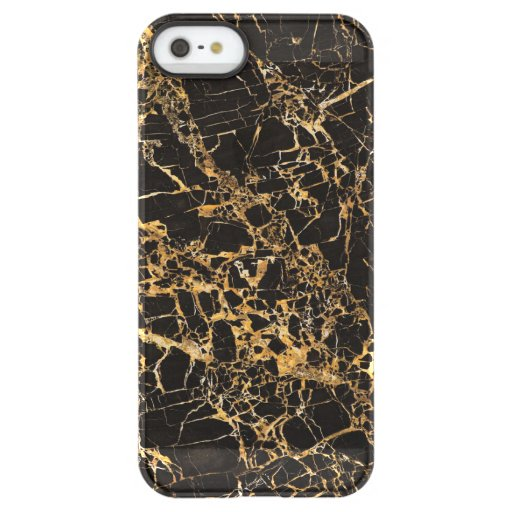 Black and Gold Marble, Permafrost® iPhone SE/5/5s Case