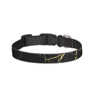 Black and Gold Marble Pet Collar