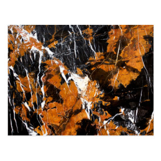 Black and gold marble postcard