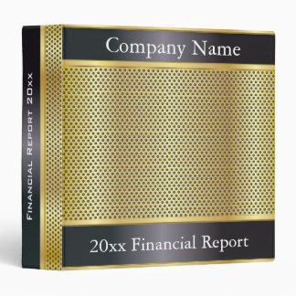 Black and Gold Metal Mesh Company Style | DIY Text 3 Ring Binder