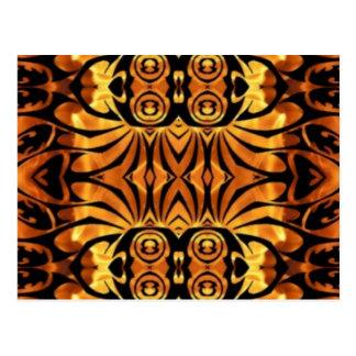 black and gold metallic metal design postcard