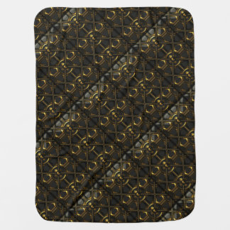Black and Gold Metallic Throw Blanket