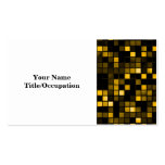 Black And Gold 'Meteor Shower' Squares Pattern Business Cards