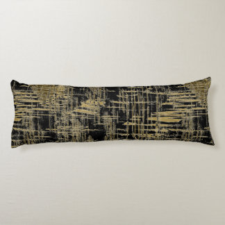 Black and Gold Modern Art Body Pillow