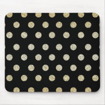 Black and Gold Mouse Pad