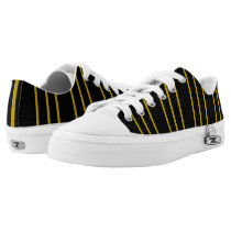 Black and Gold Multi line ZipZ low top shoes