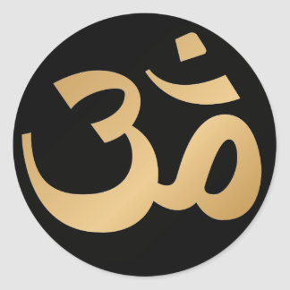 Black and Gold Om Symbol Stickers