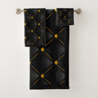 Black And Gold Bathroom Accessories Zazzle