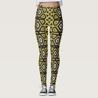 Black and Gold Pattern Leggings ★Funky Tribe I★