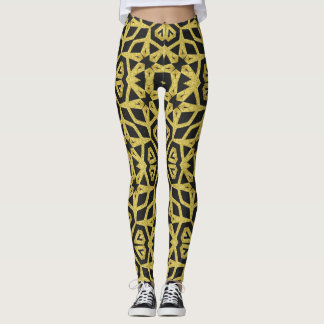 Black and Gold Pattern Leggings ★Funky Tribe II★