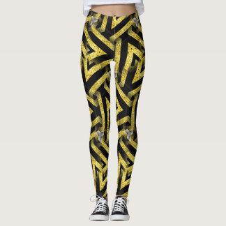 Black and Gold Pattern Leggings ★Funky Zebra★